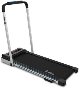 REDLIRO Small Space Under Desk Bed Treadmill for Home - Office Workout