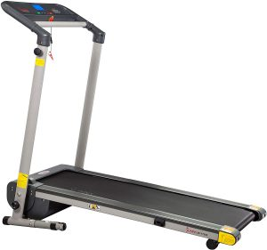Sunny Health & Fitness Folding Compact Motorized Treadmill for Small Space