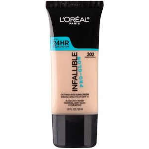 L'Oreal Paris Makeup Infallible Up to 24HR Pro-Glow Foundation for Sensitive Skin Drugstore