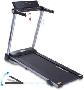 MaxKare Electric Treadmill - Foldable Running Machine for Home Use