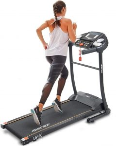 Merax Folding Electric Treadmill for Small Space