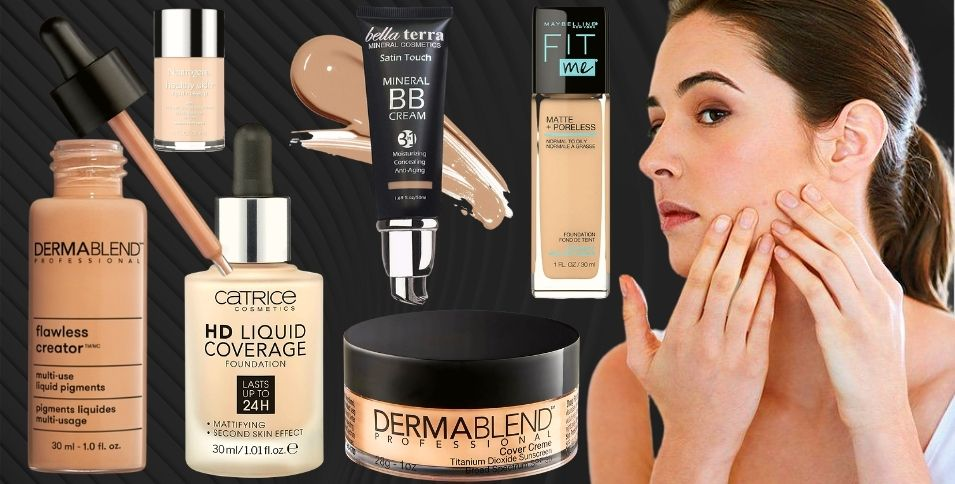 Best Foundation for Sensitive Skin with Acne